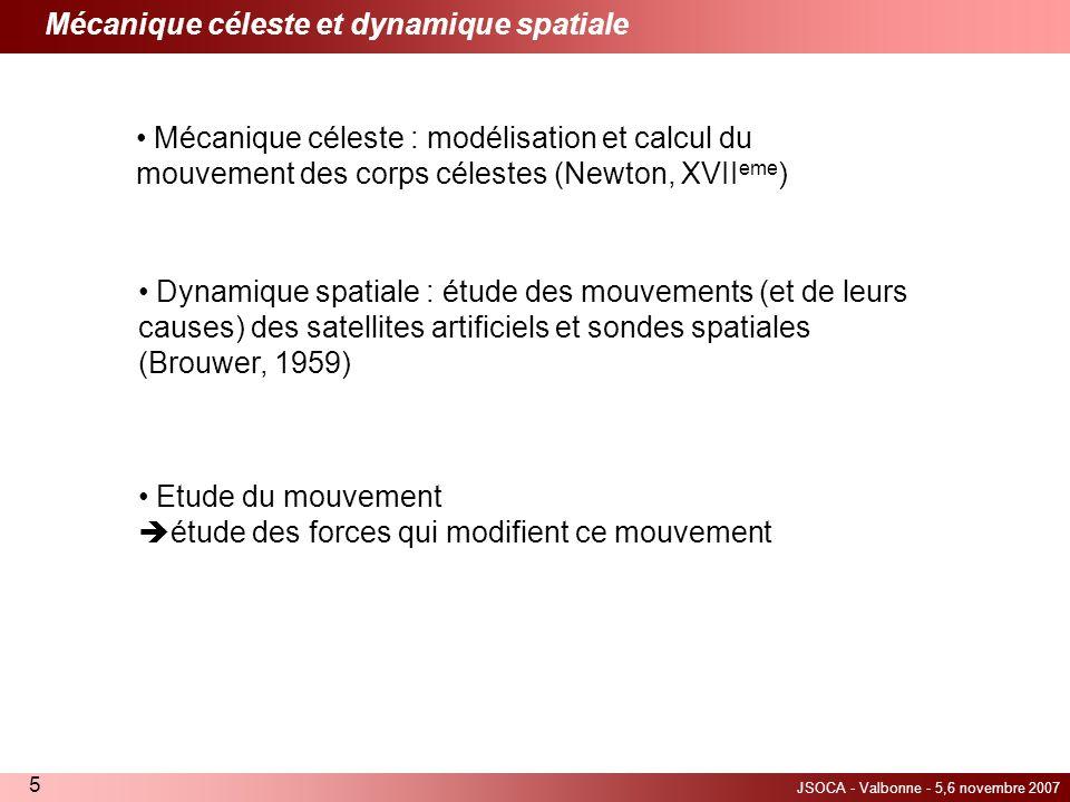 Mécanique céleste et dynamique spatiale