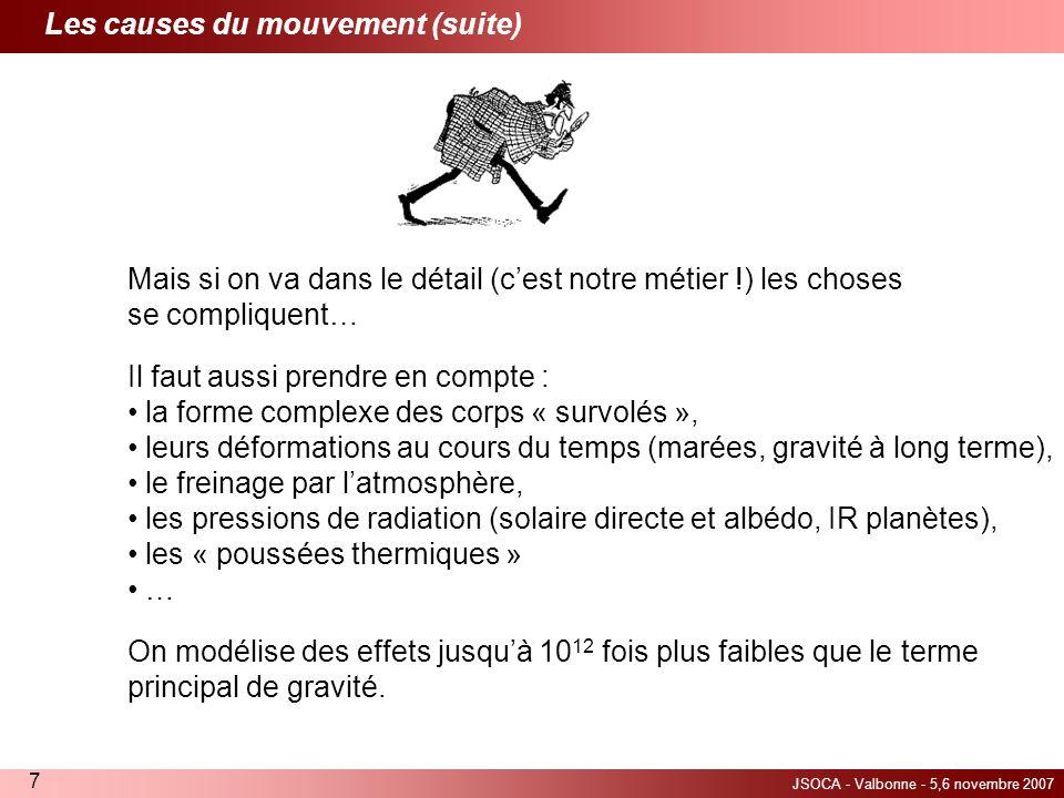 Les causes du mouvement (suite)