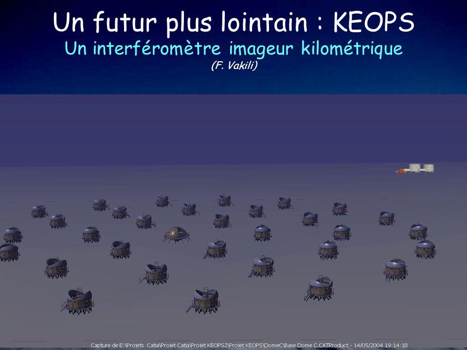 Un futur plus lointain : KEOPS Un interféromètre imageur kilométrique (F. Vakili)