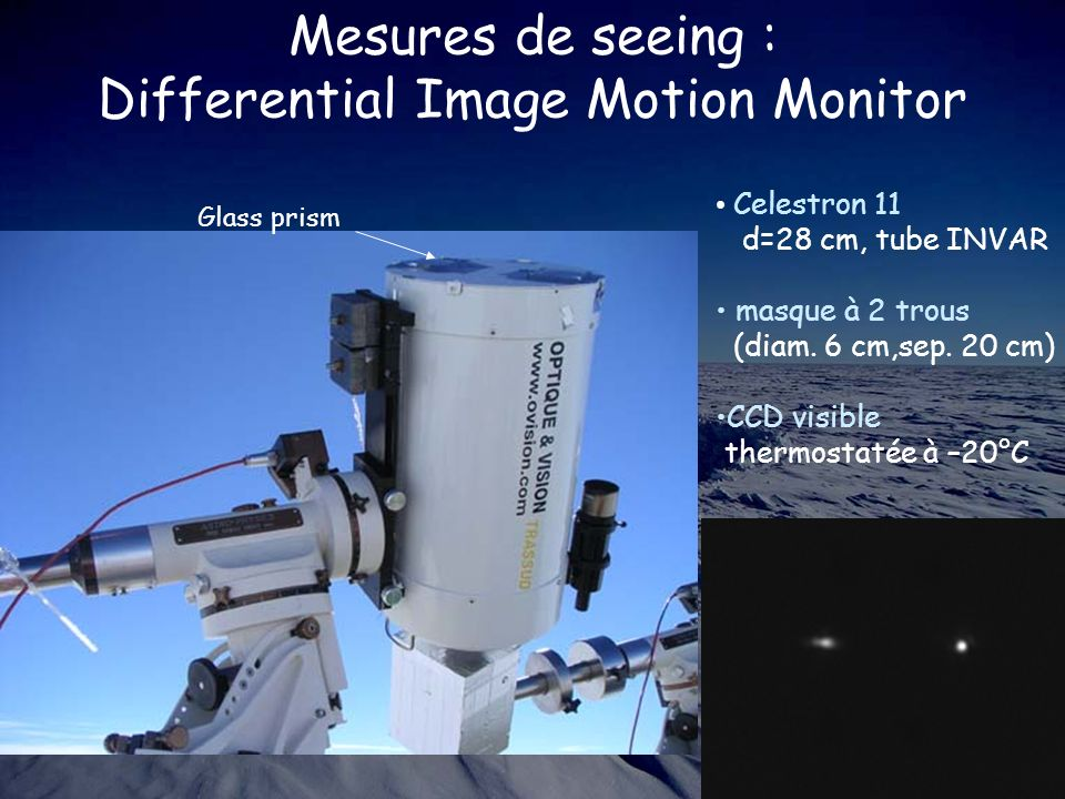 Mesures de seeing : Differential Image Motion Monitor