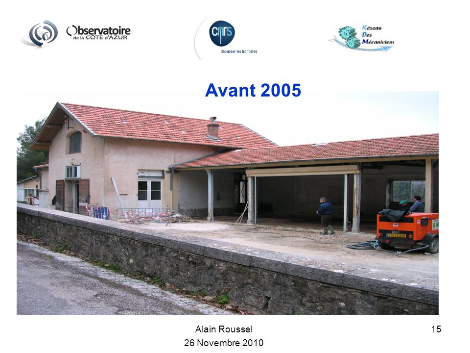Avant 2005 Alain Roussel 26 Novembre 2010