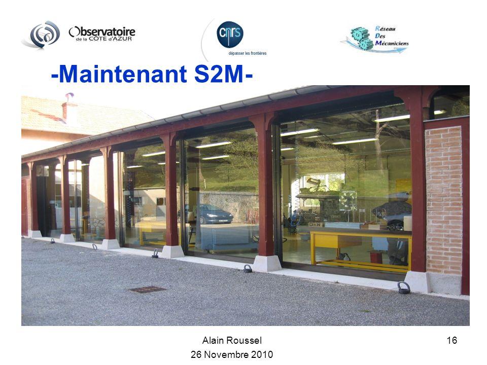-Maintenant S2M- Alain Roussel 26 Novembre 2010