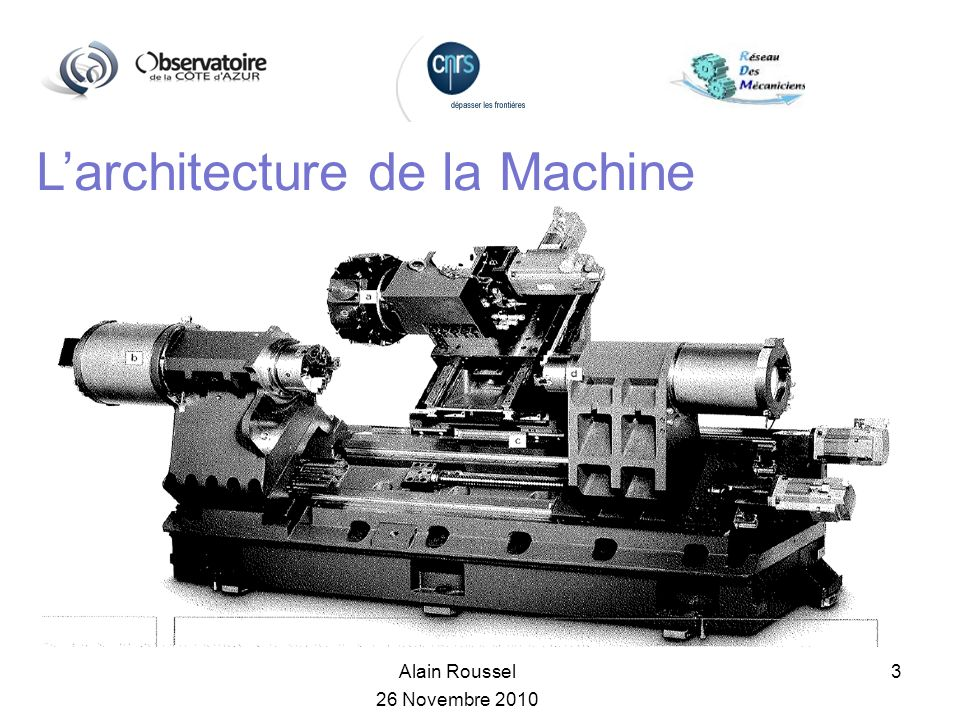 L'architecture de la Machine