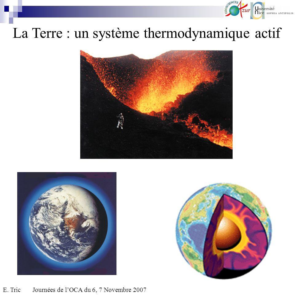 La Terre : un système thermodynamique actif