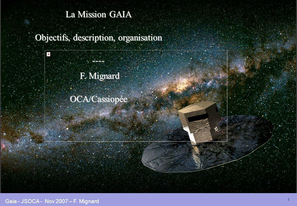 Objectifs, description, organisation