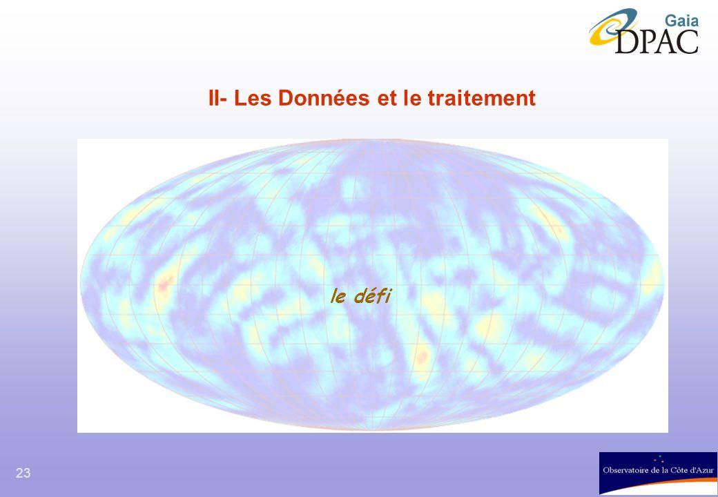 II- Les Données et le traitement