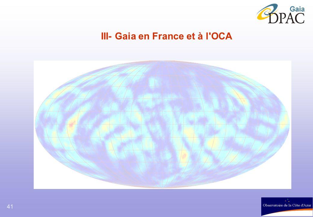 III- Gaia en France et à l OCA