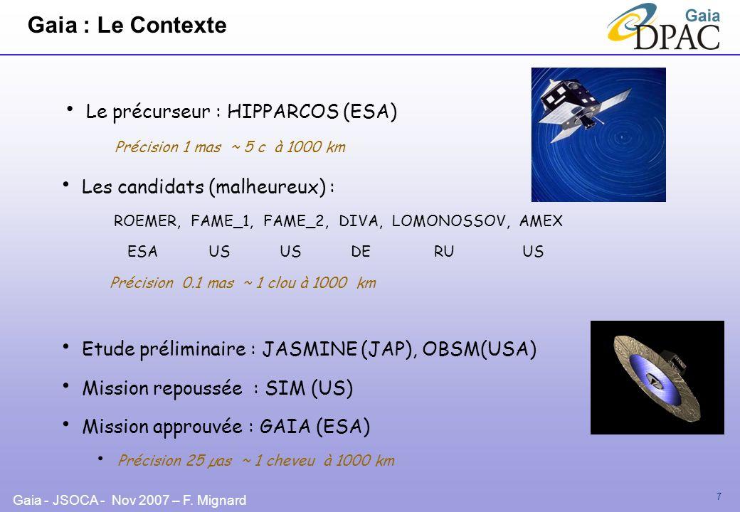 Gaia : Le Contexte Le précurseur : HIPPARCOS (ESA)