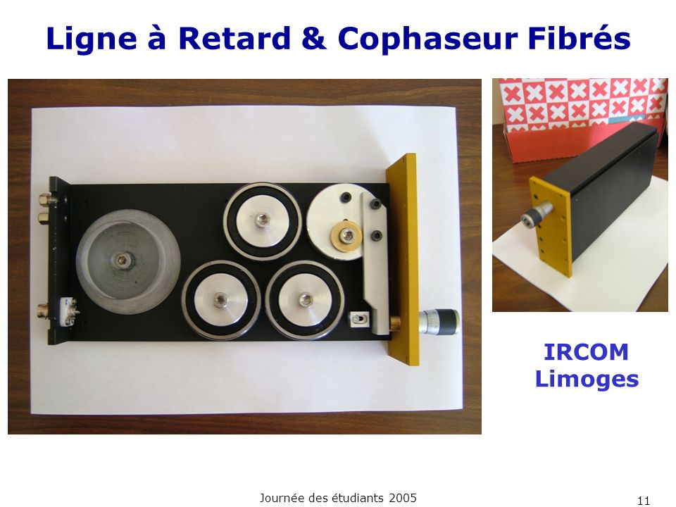 Ligne à Retard & Cophaseur Fibrés