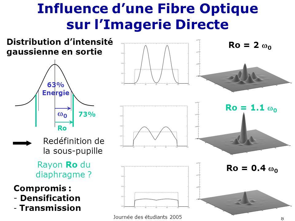 Influence d'une Fibre Optique sur l'Imagerie Directe