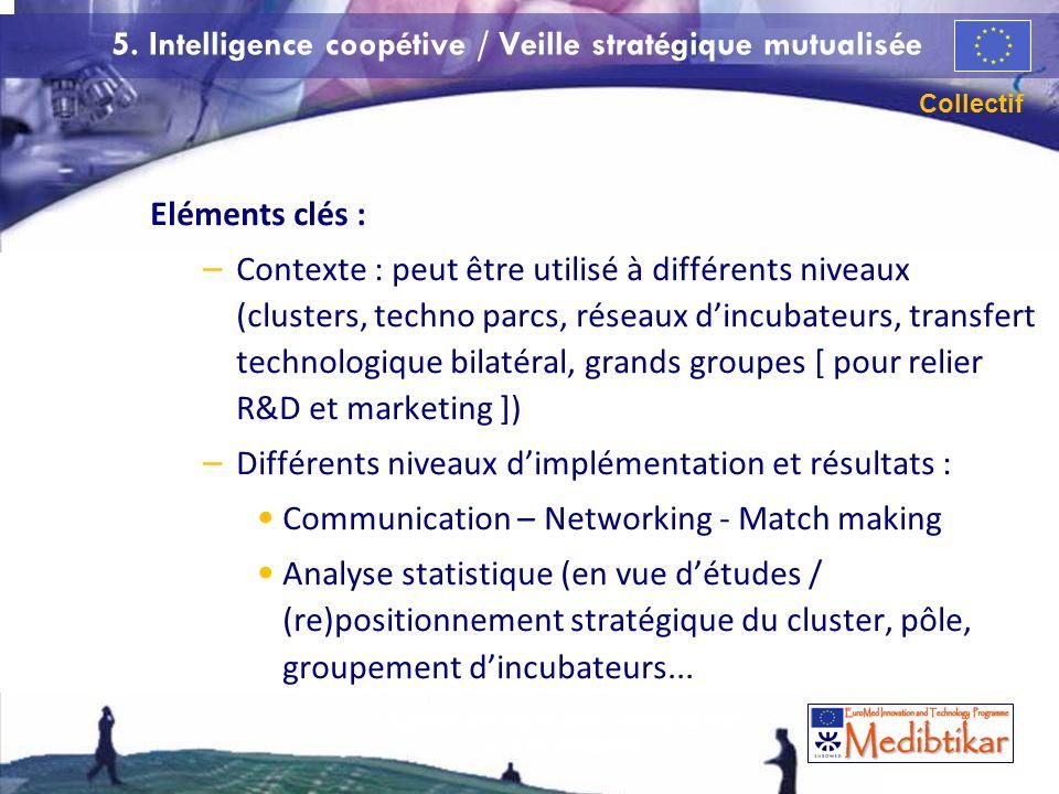 5. Intelligence coopétive / Veille stratégique mutualisée