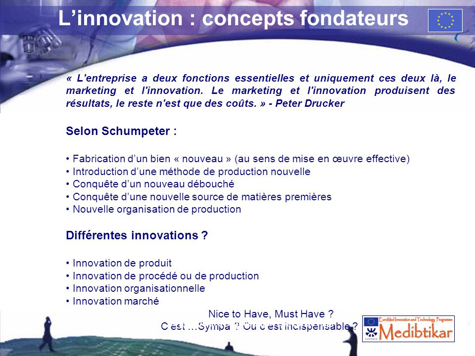 L'innovation : concepts fondateurs