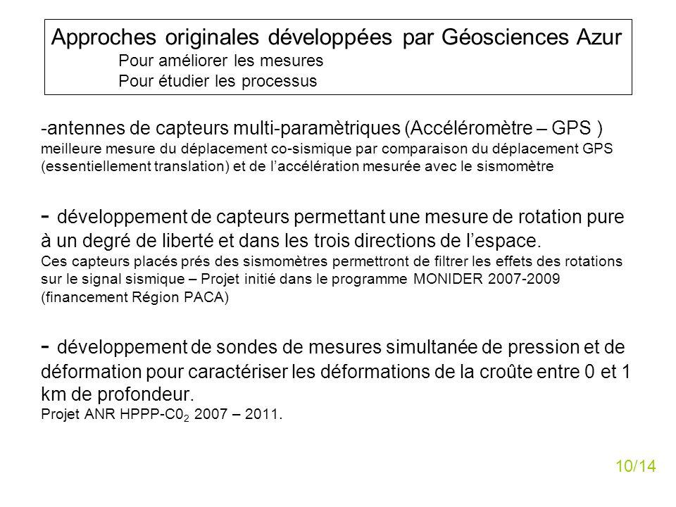 Approches originales développées par Géosciences Azur