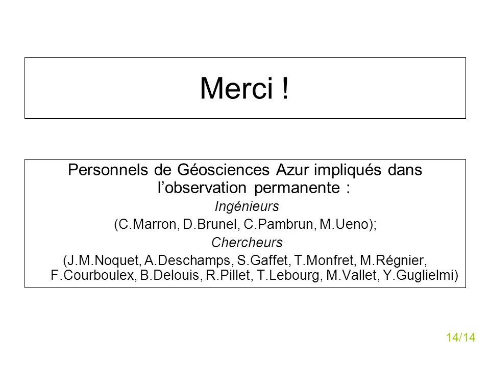 (C.Marron, D.Brunel, C.Pambrun, M.Ueno);