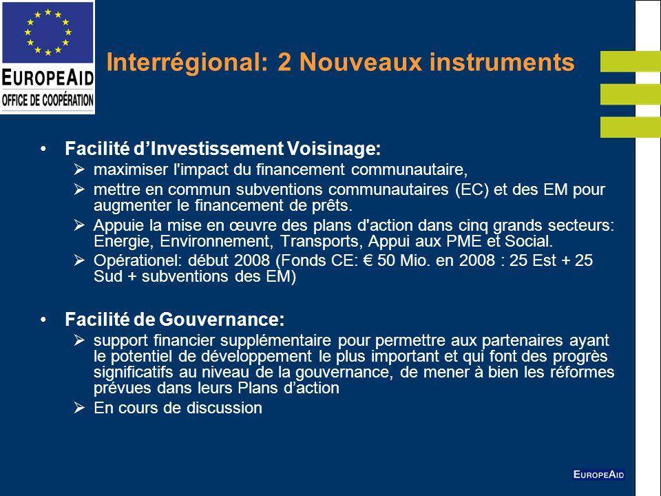 Interrégional: 2 Nouveaux instruments