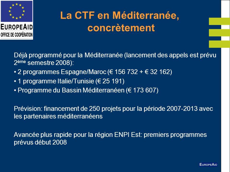 La CTF en Méditerranée, concrètement
