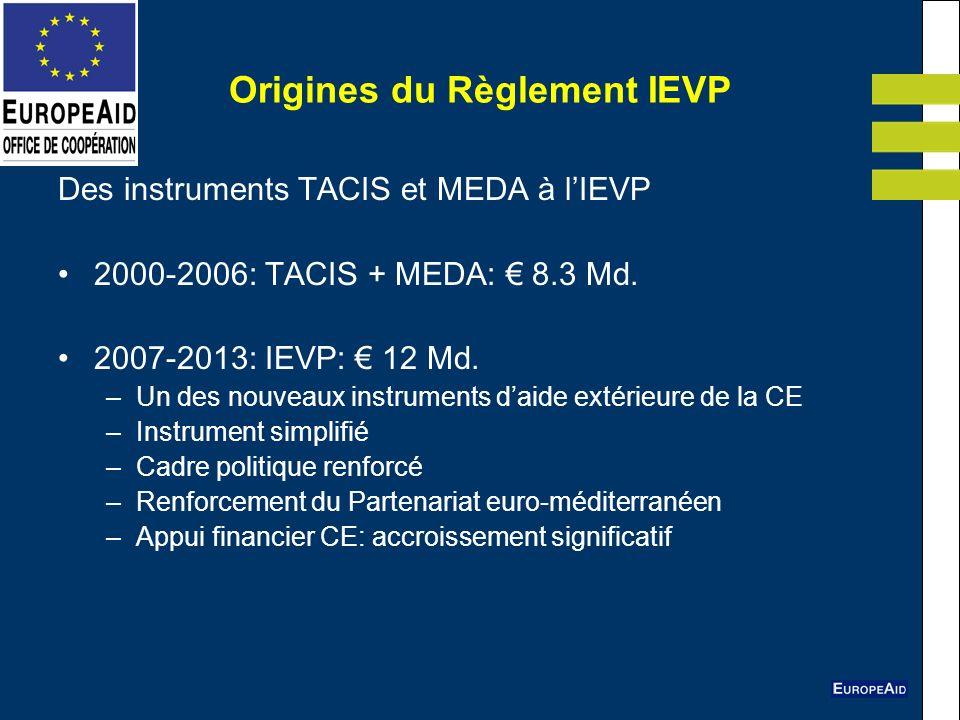 Origines du Règlement IEVP