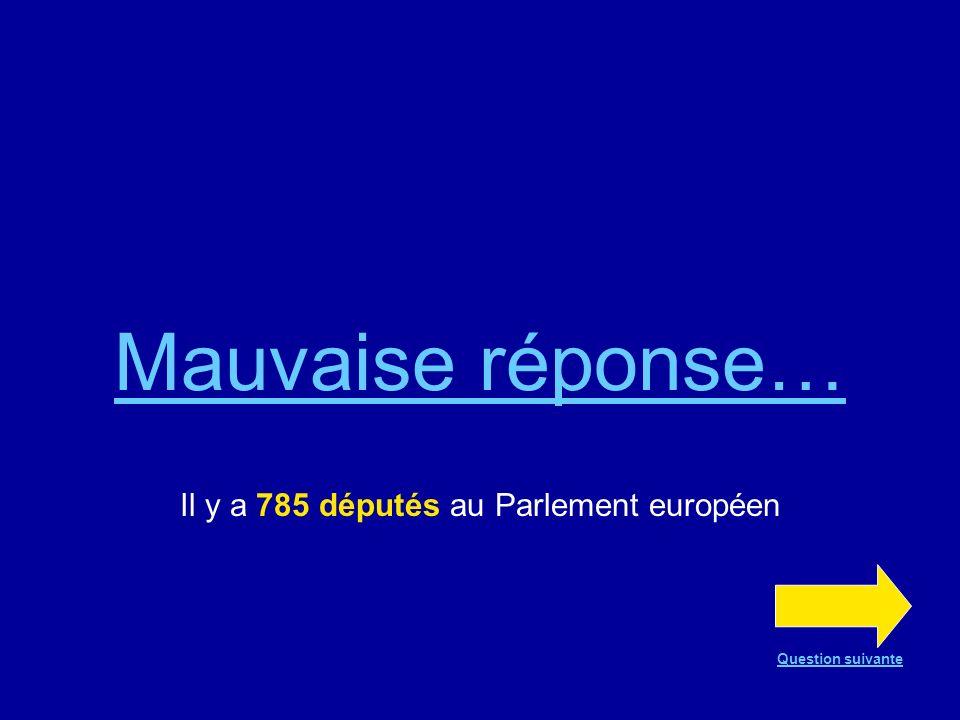 Il y a 785 députés au Parlement européen