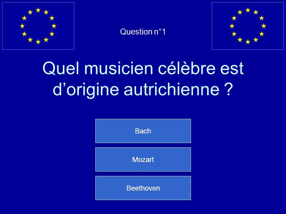Question n°1 Quel musicien célèbre est d'origine autrichienne