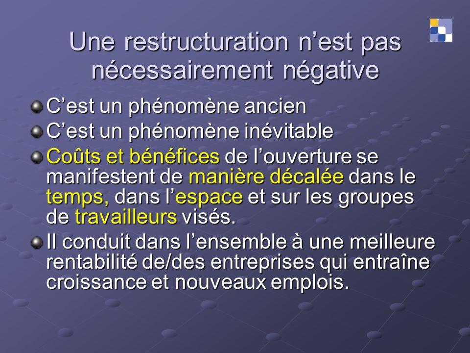 Une restructuration n'est pas nécessairement négative