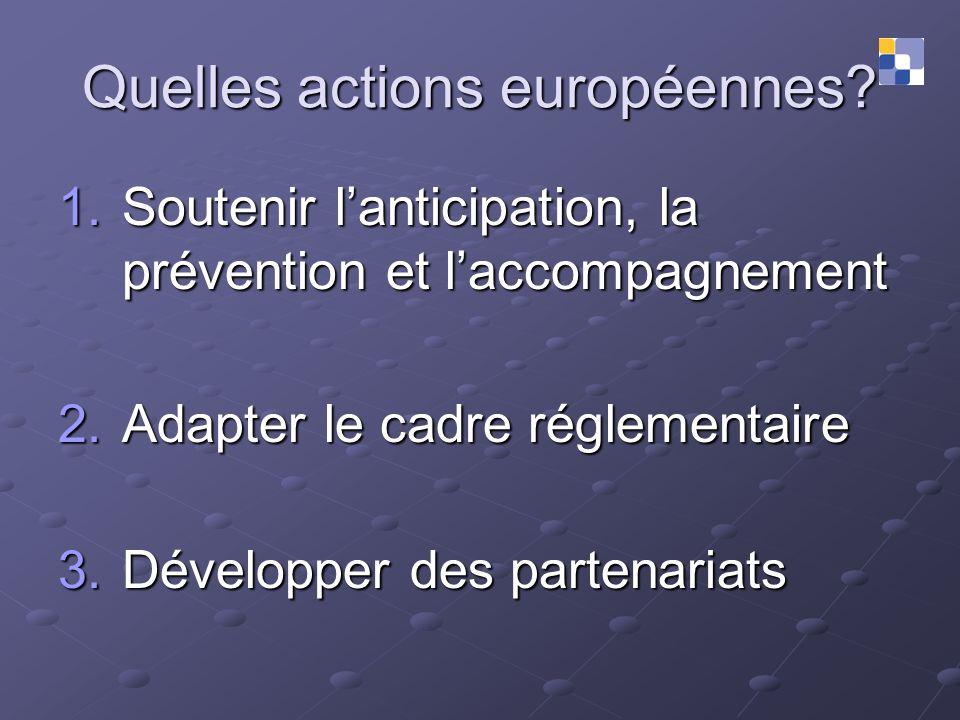 Quelles actions européennes