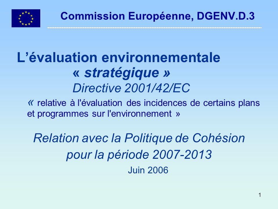 Commission Européenne, DGENV.D.3