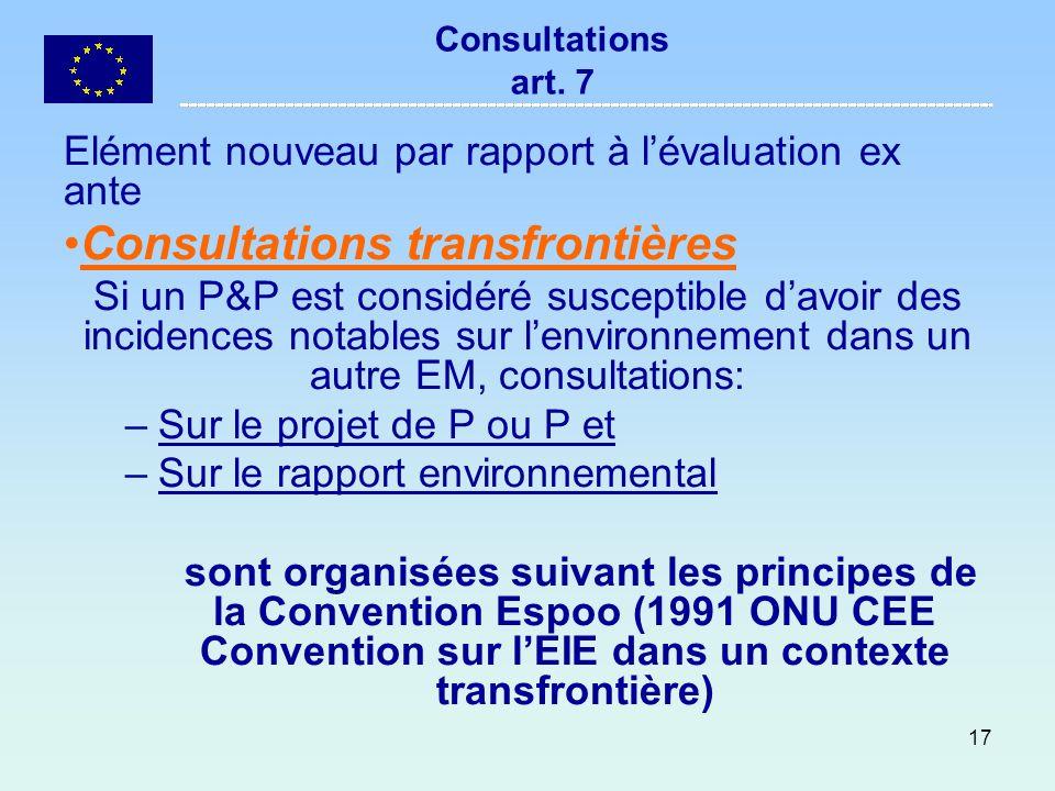 Consultations transfrontières