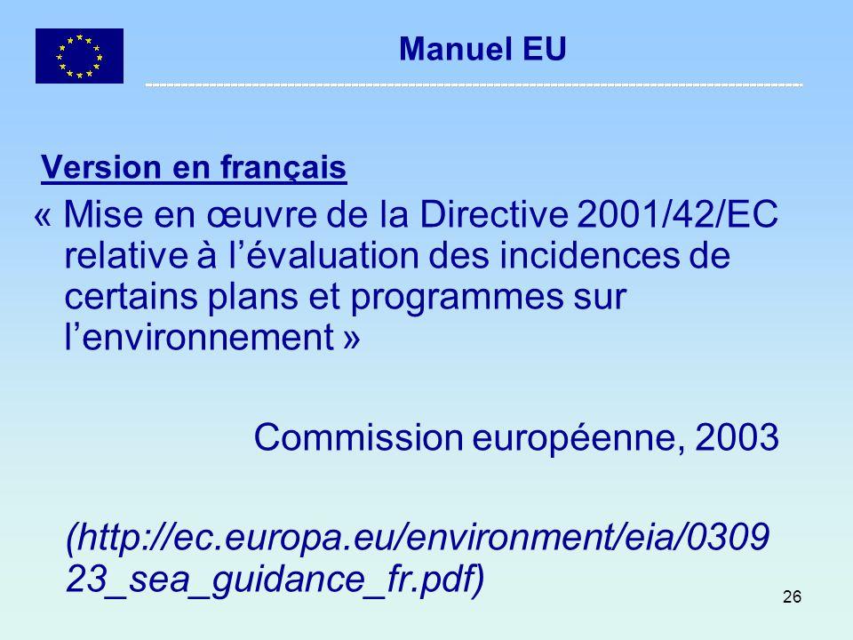 Commission européenne, 2003