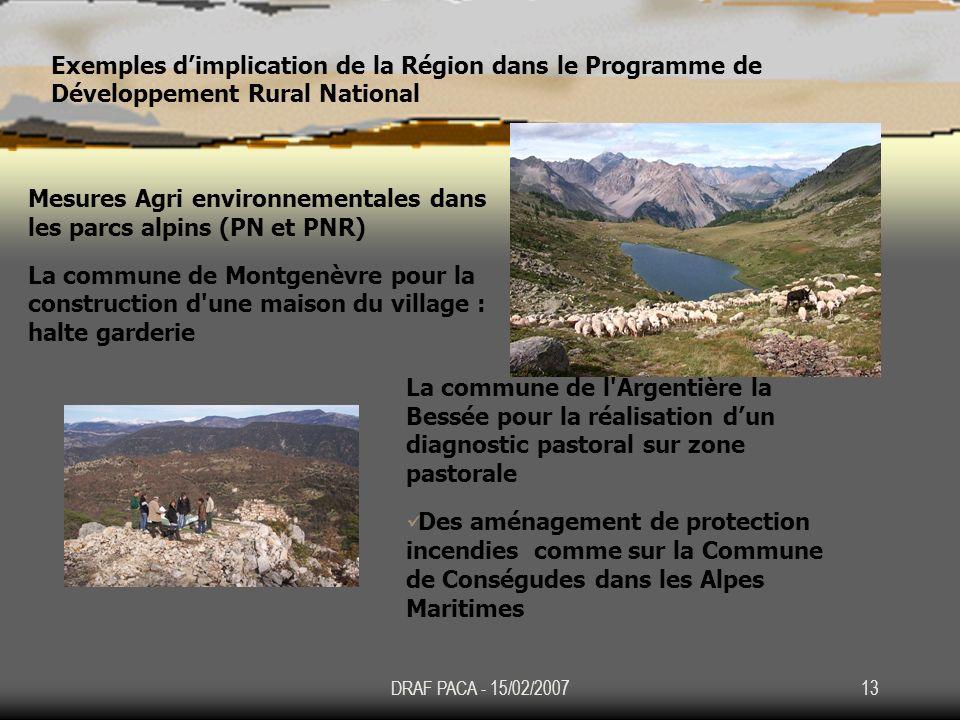 Mesures Agri environnementales dans les parcs alpins (PN et PNR)