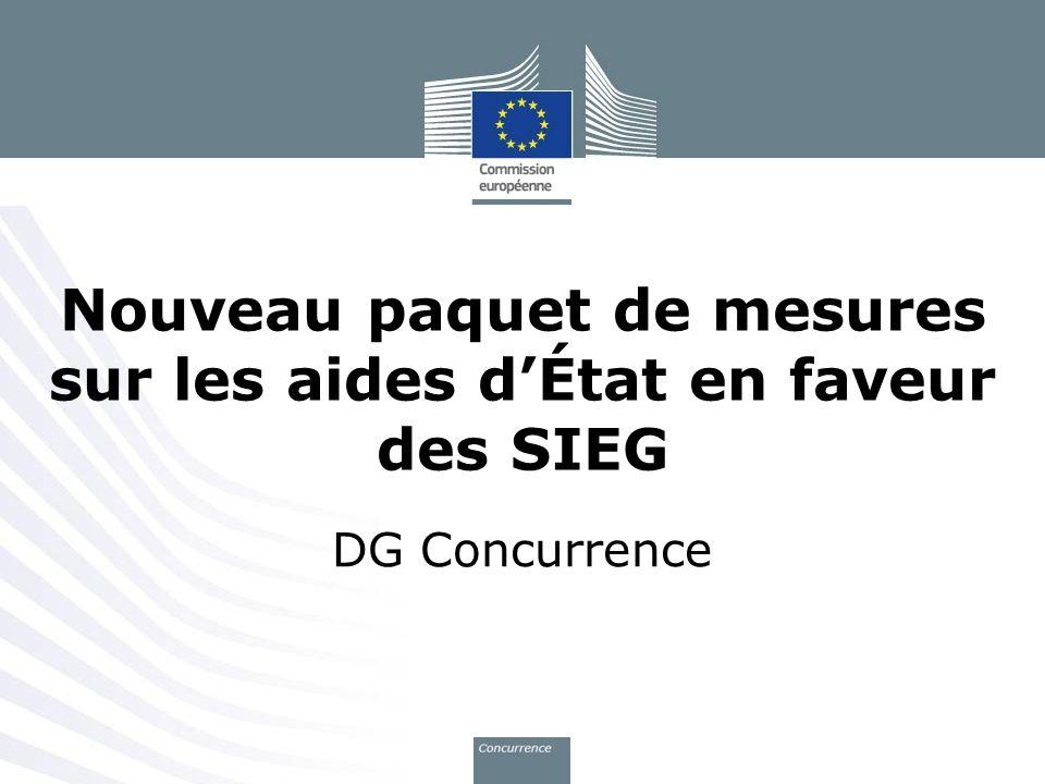 Nouveau paquet de mesures sur les aides d'État en faveur des SIEG
