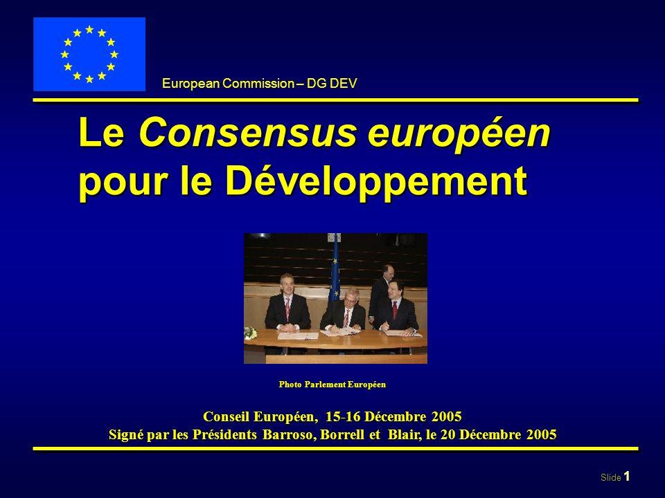 Le Consensus européen pour le Développement