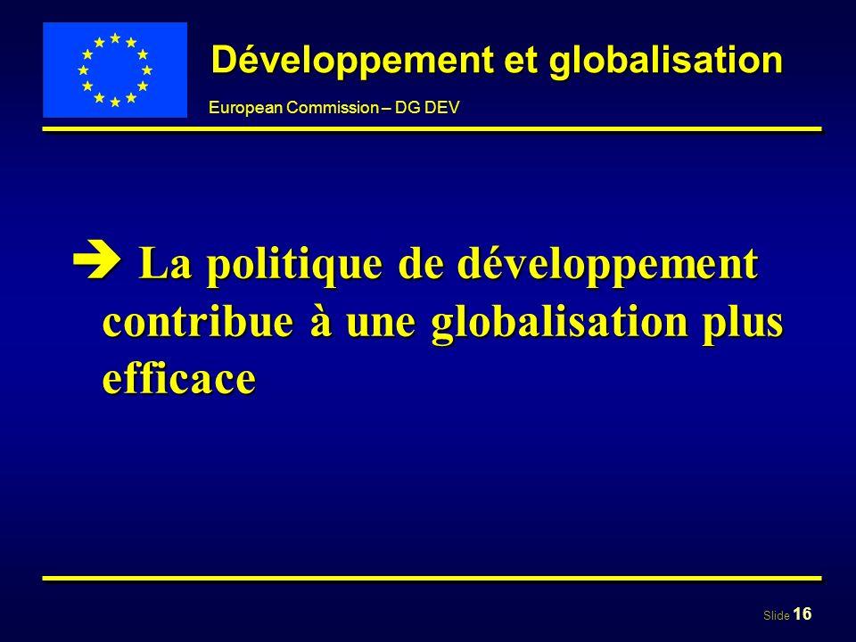 Développement et globalisation