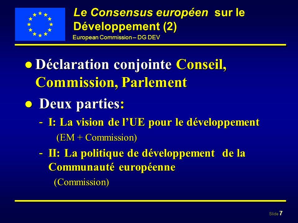 Le Consensus européen sur le Développement (2)