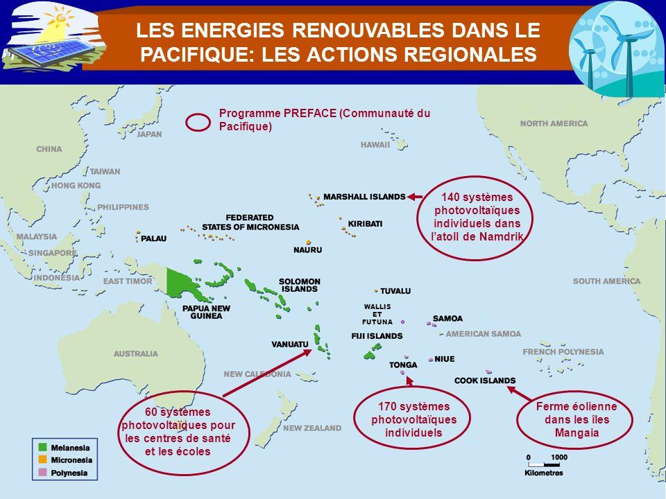 LES ENERGIES RENOUVABLES DANS LE PACIFIQUE: LES ACTIONS REGIONALES