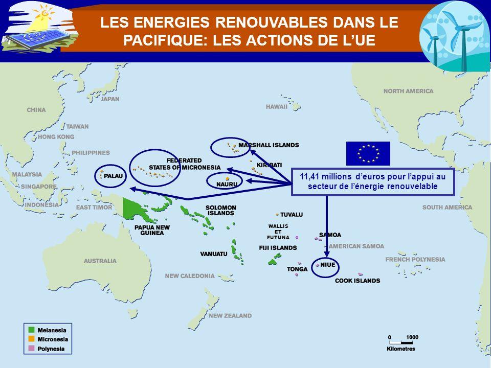 LES ENERGIES RENOUVABLES DANS LE PACIFIQUE: LES ACTIONS DE L'UE