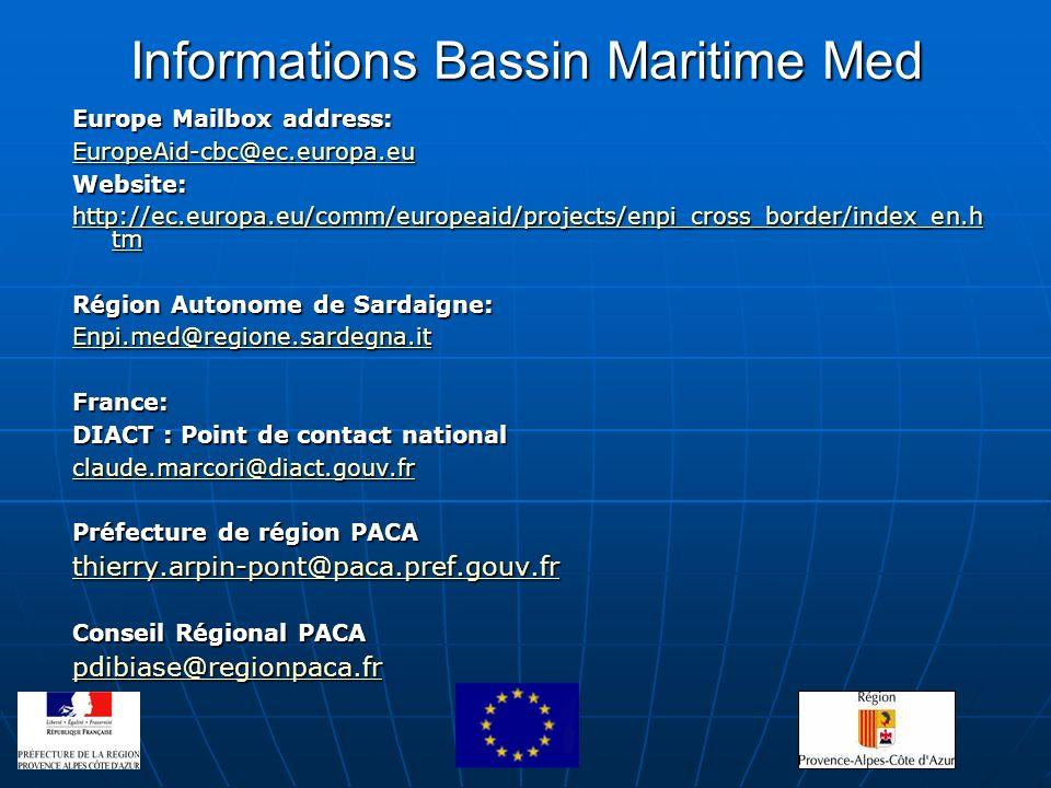 Informations Bassin Maritime Med