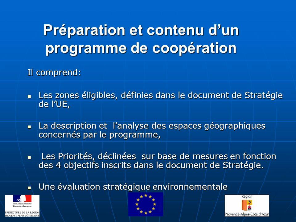 Préparation et contenu d'un programme de coopération