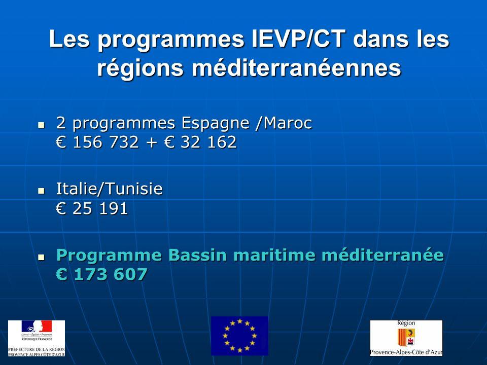 Les programmes IEVP/CT dans les régions méditerranéennes