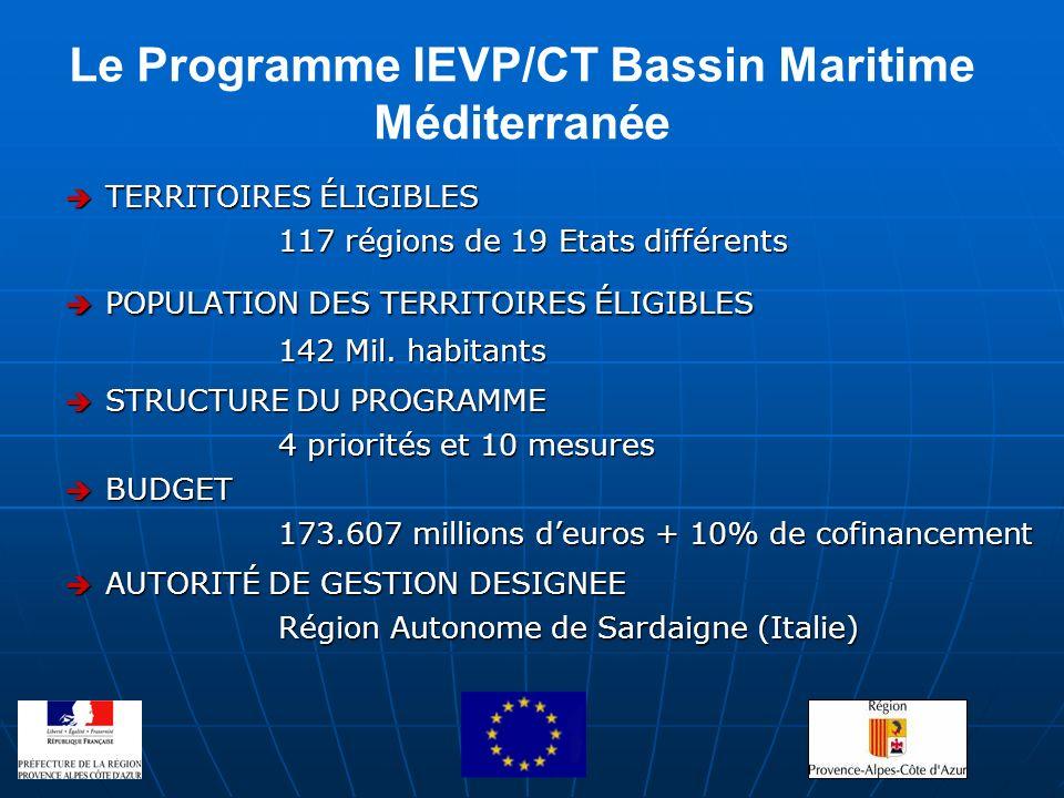 Le Programme IEVP/CT Bassin Maritime Méditerranée