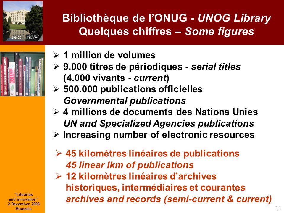 Bibliothèque de l'ONUG - UNOG Library Quelques chiffres – Some figures