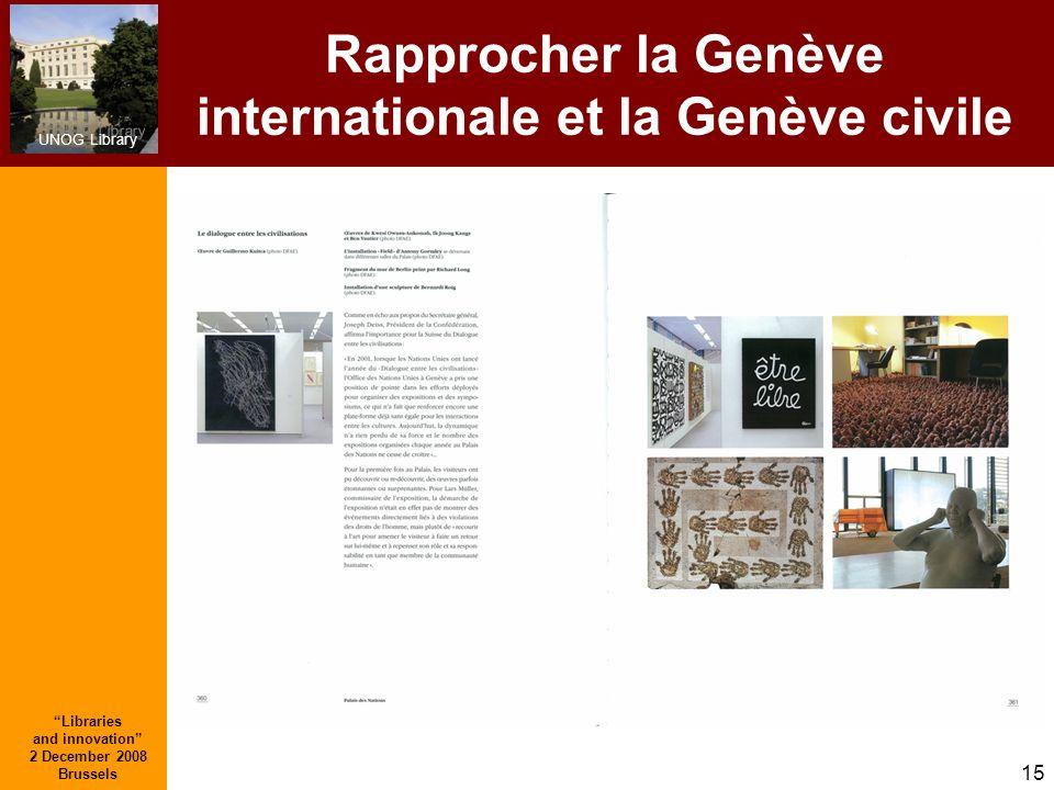 Rapprocher la Genève internationale et la Genève civile