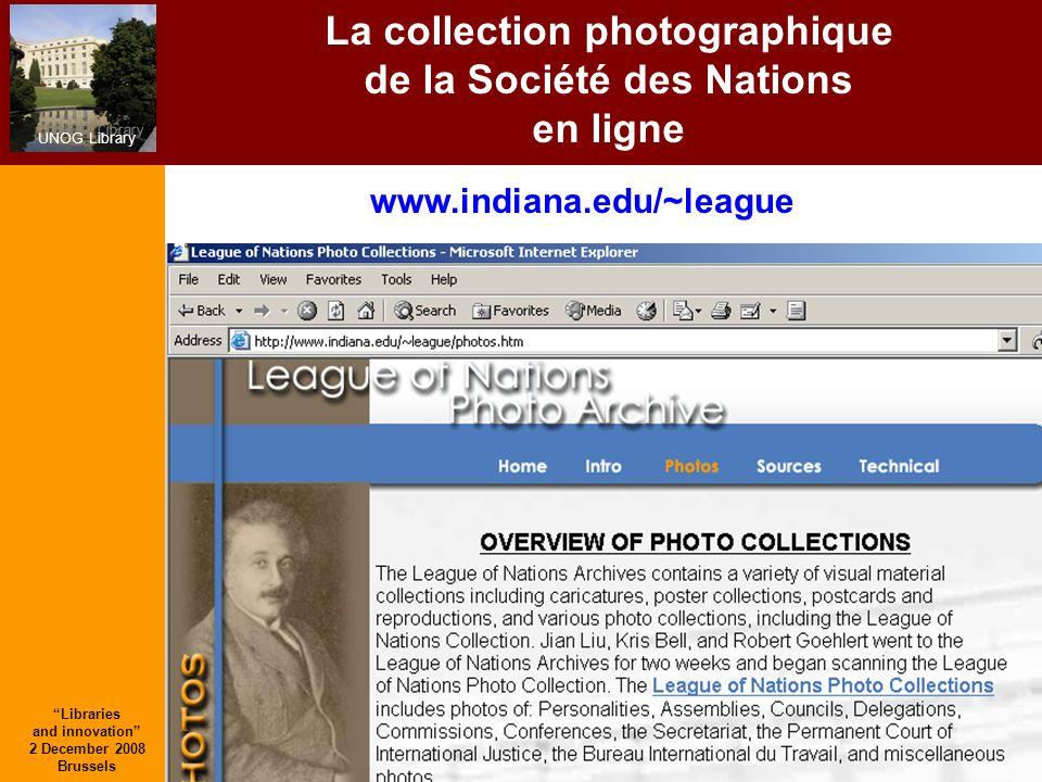 La collection photographique de la Société des Nations en ligne