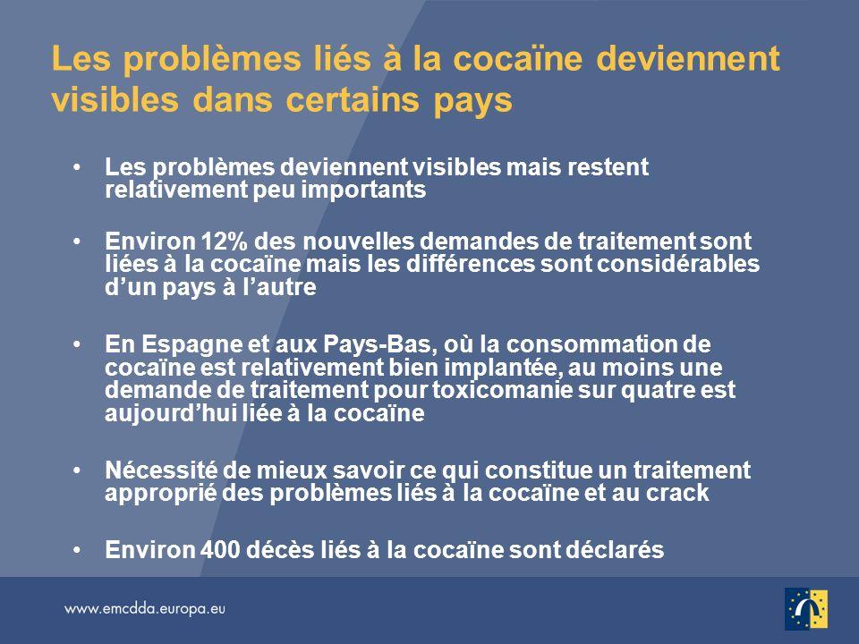 Les problèmes liés à la cocaïne deviennent visibles dans certains pays