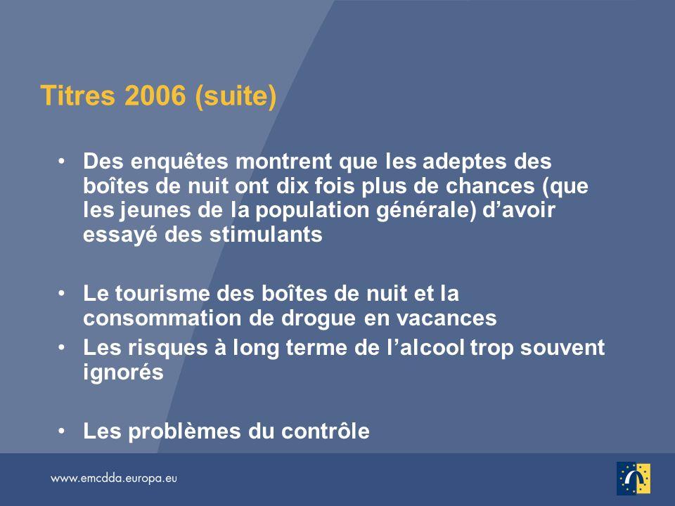 Titres 2006 (suite)
