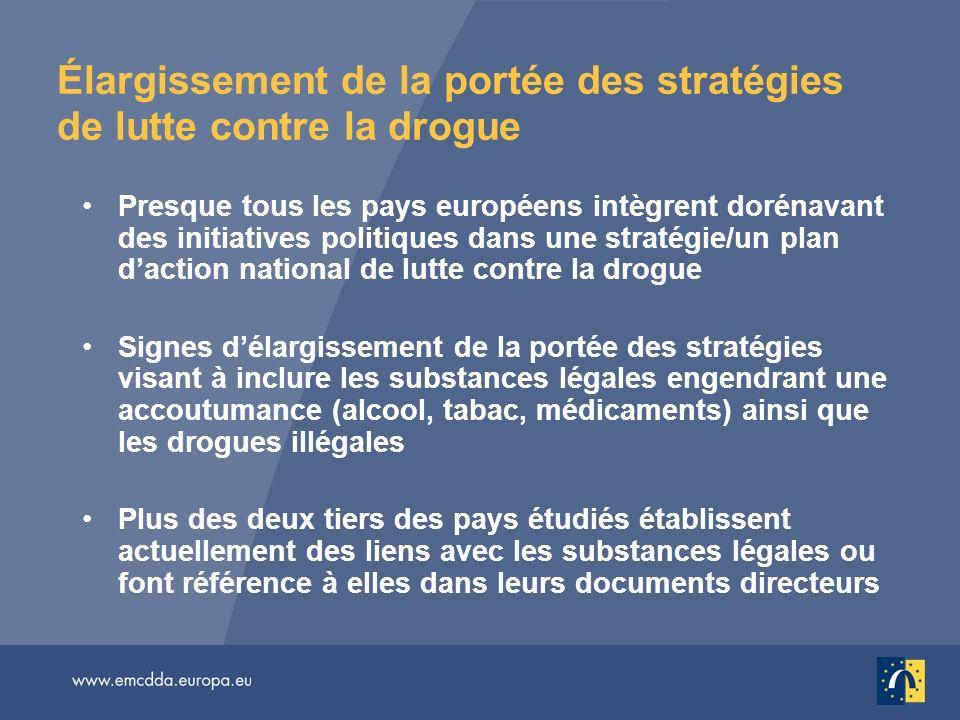 Élargissement de la portée des stratégies de lutte contre la drogue