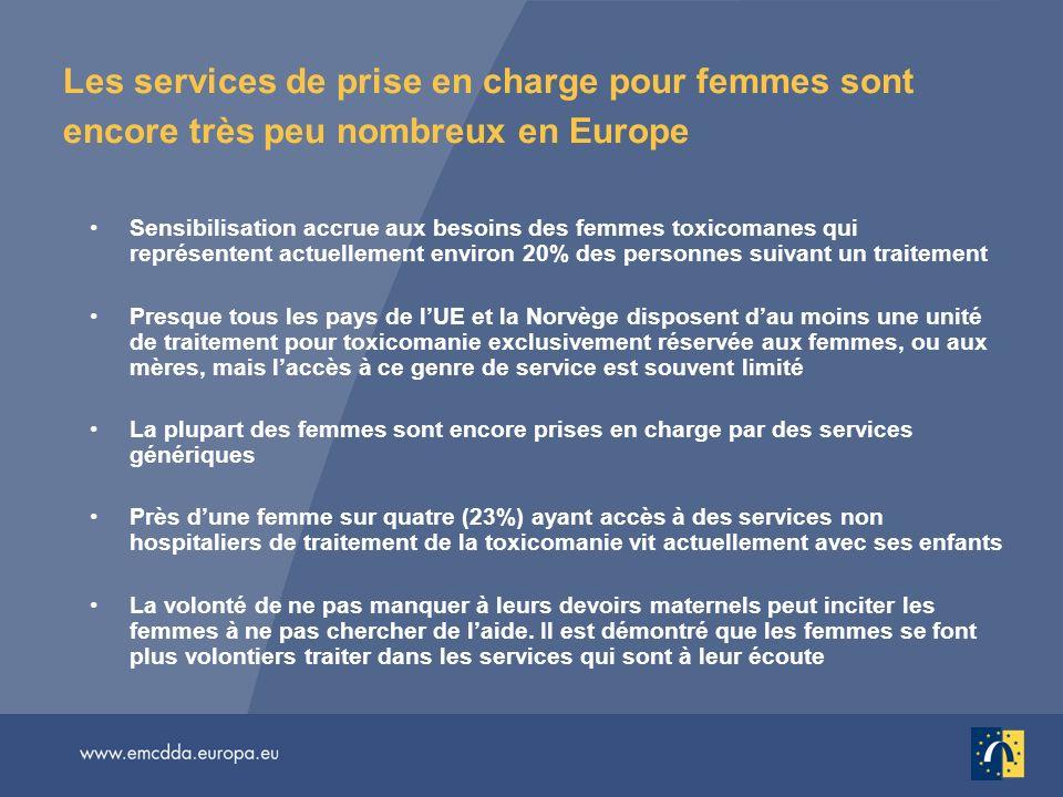 Les services de prise en charge pour femmes sont encore très peu nombreux en Europe