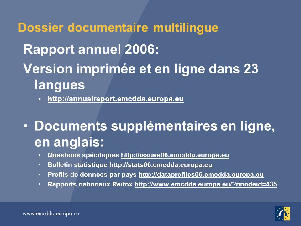Dossier documentaire multilingue