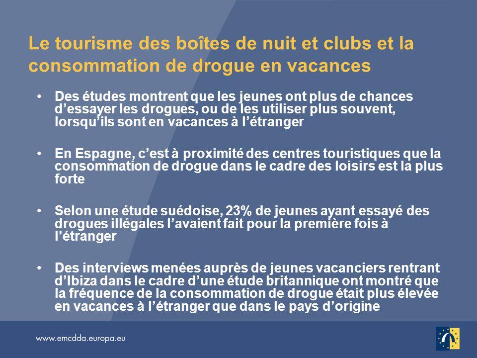 Le tourisme des boîtes de nuit et clubs et la consommation de drogue en vacances
