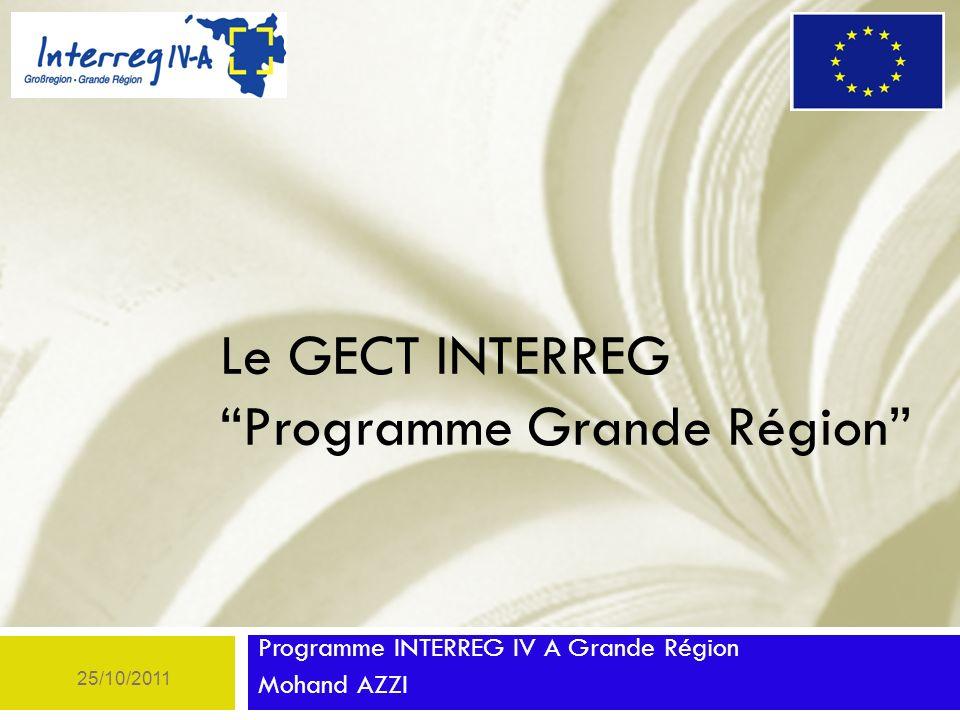 Le GECT INTERREG Programme Grande Région
