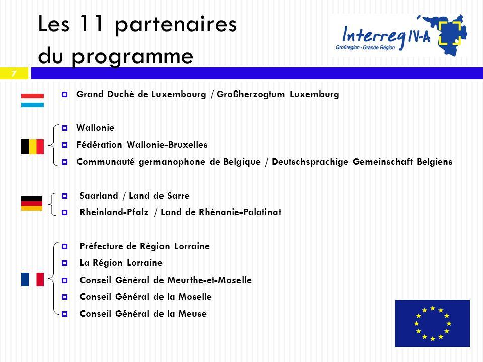 Les 11 partenaires du programme
